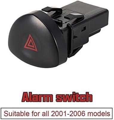 Kuuleyn Alarmschalter 8200060036 Taste Für Warnblinkschalter Für Renault Clio Mk Ii 2001 2006 Auto