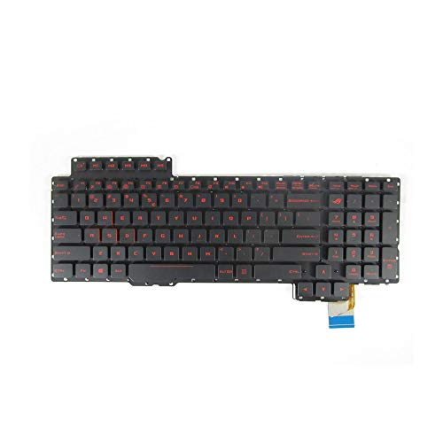 New Keyboard Replacement for ASUS ROG G752 G752VS G752VM G752VL G752VY G701VI G752VT with Backlit Red