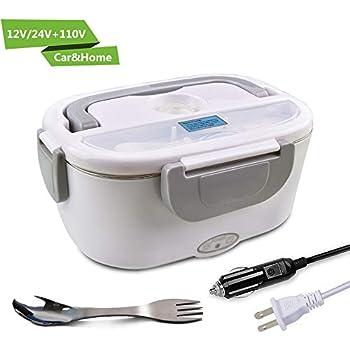 Amazon.com: Fiambrera eléctrica portátil de 110 V, con ...