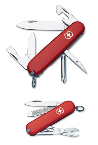 Victorinox Swiss Army Tinker and Classic Knife Combo,Red