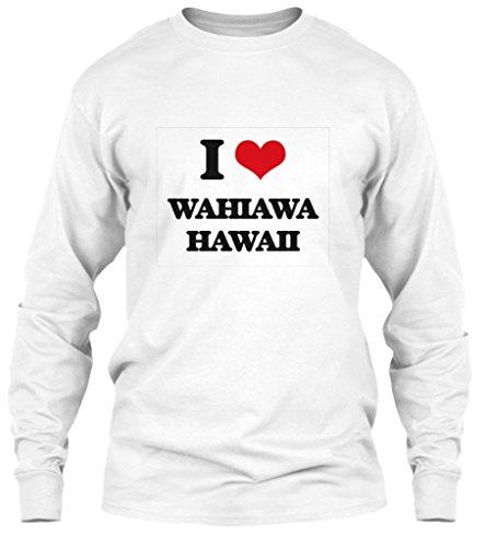 Hawaii Mug White (I Love Wahiawa Hawaii Long Sleeve Tshirt - XL - White - Gildan 6.1oz Long Sleeve Tee)