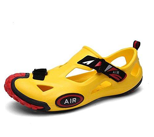 a Yellow 43 39 Yellow Cierres Antideslizantes con Zapatillas Playa de Verano Cerrados Zapatos EU42 Sandalias Mulas de Informales Talla Zuecos de Chanclas NSLXIE eu38 Hombre EVA RB1SnnqO