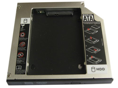 Generic 2nd Sata to Ide Hard Drive Hdd Ssd Caddy for Dell Inspiron 2200 6000 ()