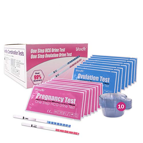 Wondfo 60 Ovulation Test Strips and 10 Pregnancy Test Strips Combo Kit Rapid Test Detection for Home Use (60 LH + 10 HCG…