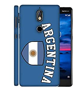 ColorKing Football Argentina 13 Blue shell case cover for Nokia 7