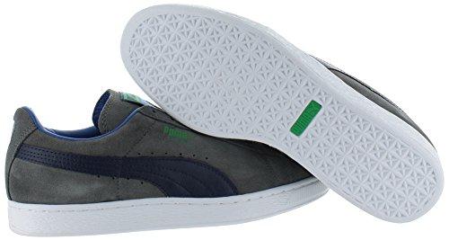 PUMA Adult Wildleder Klassischer Schuh Stahlgrau / Peacoat / Farngrün