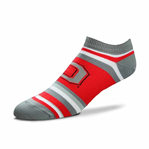 Ohio State Buckeyes Striped Acrylic - For Bare Feet Ohio State Buckeyes Adult NCAA Lotta Stripe Socks - Team Color, Large