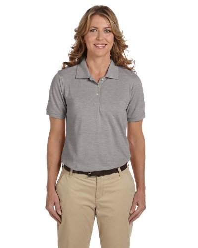Ladies' Easy Blend Polo, Grey Heather, XL