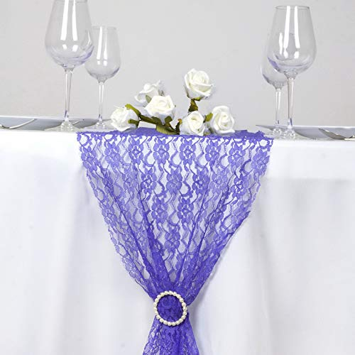 Mikash 10 pcs 12x108 Wedding LACE Flowers Table Runners Party Dinner Decorations | Model WDDNGDCRTN - 15810 -