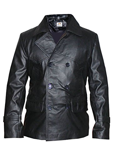 f316565f6110 ST Hra Men Black Leather Blazer Coat Double Breasted 6-Button Designer Pu  Faux Leather
