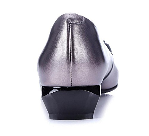 Mocassins véritable Femmes plate xie Ballerine 35To41 Taille pointu Rivet Chaussures Bout Cuir qt07BR0w