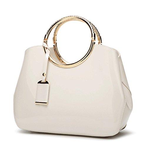 2 Handbag Handbag Handbag 1 Shoulder Bride Bridal Bag Pu A color Patent Leather Woman Leather Bright 4wqR6Rp