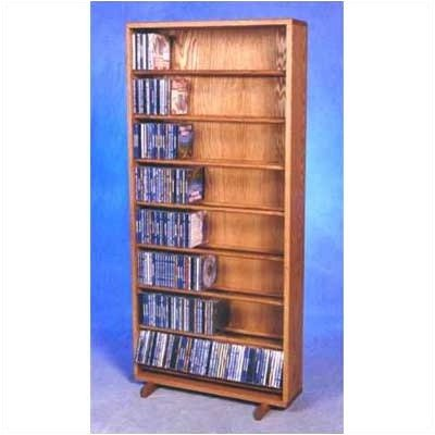 24.25 in. Dowel CD Storage Tower in Honey Oak Finish (Clear)