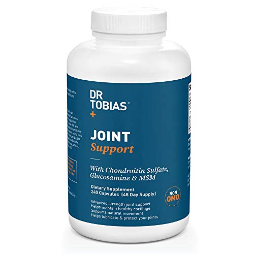 Dr Tobias Joint Support - Extra Strength Hip, Knee & Joint Supplement with Chondroitin Sulfate, Glucosamine & MSM (240 Count) (Best Glucosamine Supplement For Knees)
