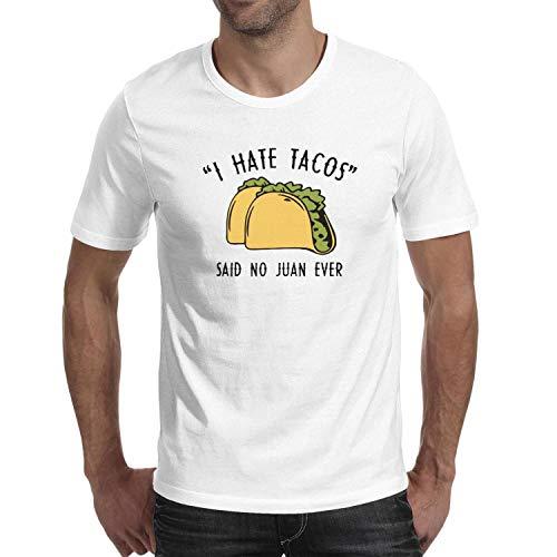Short Sleeve Mens Guys I Hate Tacos Said No Juan Ever top Unique t Shirts