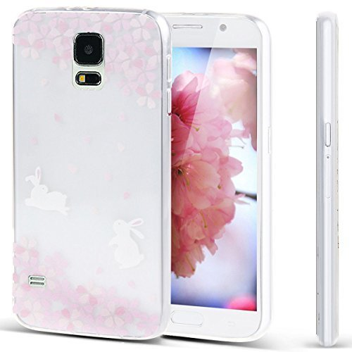 Funda Doble para Samsung Galaxy Note 3, Vandot Bling Brillo Carcasa Protectora 360 Grados Full Body | TPU en Transparente Ultra Slim Case Cover | Protección Completa Delantera y Trasera Cocha Smartpho Bunny flowers