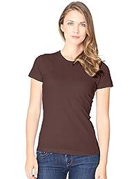 Women's Juniors T-shirt Slim Fit Short Sleeve Organic Fine Jersey Tee Royal Apparel