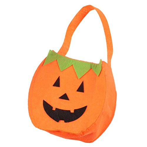 Candy Bags For Halloween,Elevin(TM)2017Halloween Classic Style Candy Bag Gift Bag Storage Sugar Bag Candy Trick or Treat Bag Travel Bag (C)]()