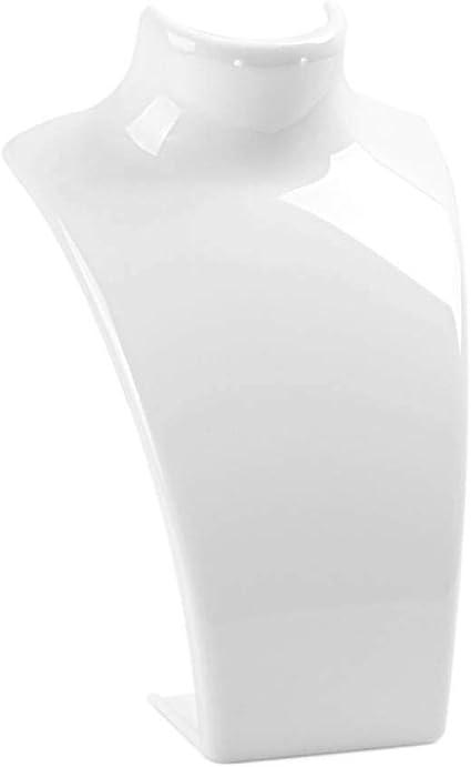 Bijoux Acrylique Collier Boucle doreille en Plastique Buste Mannequin Holder Pr/ésentoir Organisateur