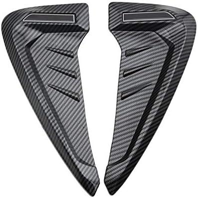 1Pairユニバーサルリーフプレートエアインレット装飾トリムカバーサイドフェンダーカースタイリング 車のフロントドアボウルの装飾