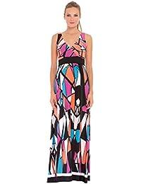 Shirred Empire Waist Maxi Dress