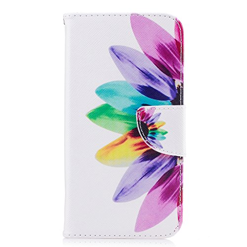 Trumpshop Smartphone Carcasa Funda Protección para Huawei Y3 (2017) + árbol de la vida + PU Cuero Caja Protector Billetera con Cierre magnético [No compatible con Y3] Girasol