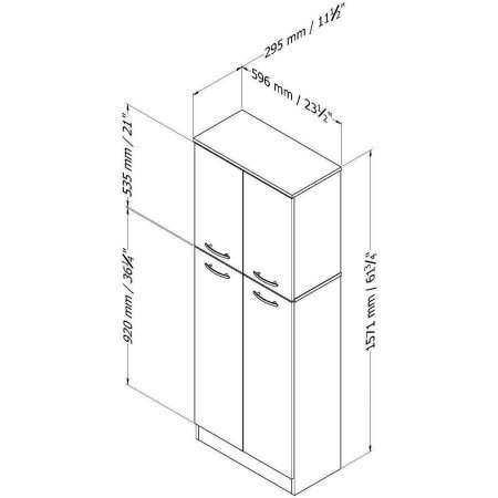 Smart Four Door Storage Pantry, Elegant and Practical Food Storage Pantry, Perfect Fit for Your Needs, Ideal for Putting Away Food as Well as Kitchen Accessories, Country Pine + Expert Guide by eCom Rocket (Image #6)