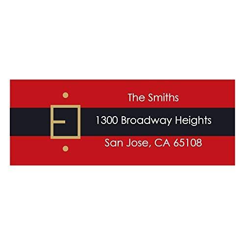 Custom Jolly Santa - Personalized Christmas & Holiday Return Address Labels - Set of 30