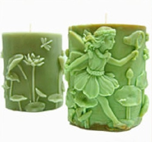 Lingmoldshop 1pcs 3D OVal Running Fairy Silicone Handmade Candle//Soap Mold Craft DIY Mould