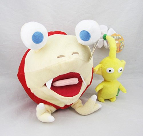 10 Bulborb Chappy Pikmin and Yellow Flower Set Plush Adorable Doll Set of 2