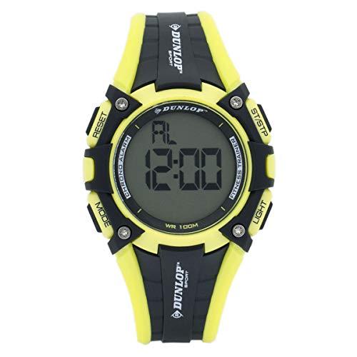 Dunlop Digital Watch Mens DUN245G12 Rubber Yellow/Black Sport