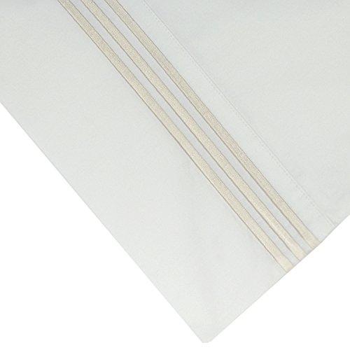 Cotton Sheet Set Emb - Pointehaven 300 Thread Count Egyptian Cotton Embroidered Pillowcase, Standard, Ivory