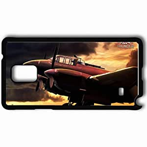 Personalized Samsung Note 4 Cell phone Case/Cover Skin Aircraft War Thunder Black