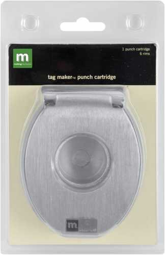 Tag Maker Punch Cartridge With 6 Rims-circle 1.5