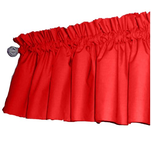 Solid Color Window Valance, Red