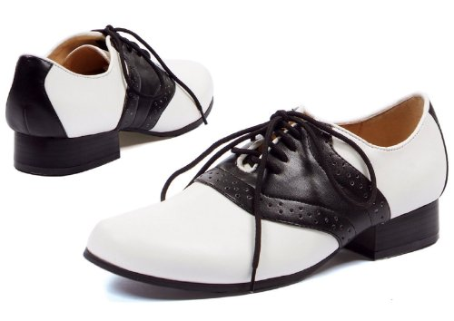 Ellie Shoes Women's 105 Saddle Oxford, Black/White, 7 M US (Black And White Saddle Shoes)