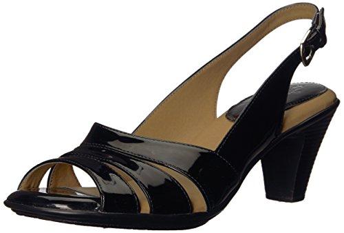 softspots Women's Black Patent Neima 6.5 B(M) - Slingback Sandal Patent
