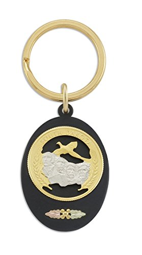 - Landstroms Black Hills Gold Key Ring with 12K Leaves