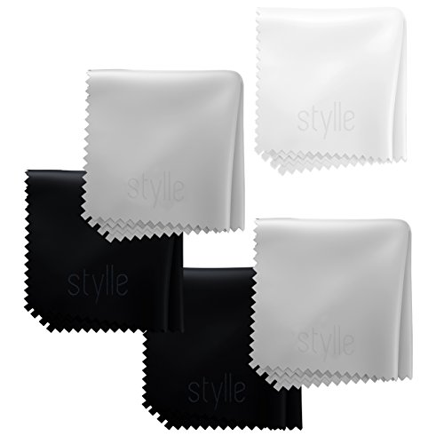Microfiber Cloths for Electronics 7.9 X 7.9 (5 Pack) - Cleans Lenses, Glasses, Screens, Cameras, iPad, iPhone, Tablet, Cell Phone, LCD TV Screens and More