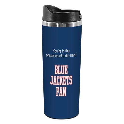 Tree-Free Greetings TT02176 Blue Jackets Hockey Fan 18-8 Double Wall Stainless Artful Tumbler, 14-Ounce ()