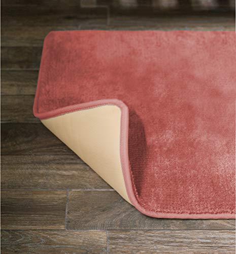 American Pillowcase Soft, Durable No-Slip Memory Foam Bath Mat Rug 20 x 36 Inch, Salmon
