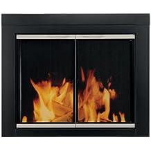 Pleasant Hearth AP-1130 Alsip Fireplace Glass Door, Black, Small