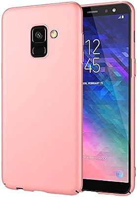 EIISSION Funda Compatible con Samsung Galaxy A6 2018 Funda,Carcasa ToughShell Funda táctil Funda Mate Funda Duro y Flexible Carcasa (Oro Rosa)