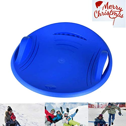 DankeSh Snow Saucer Sled Plastic Disc Sled Round Snow Sled Kids Snow Sled Saucer