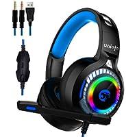 Uniojo A60 Gaming Headphones with Mic (Black)