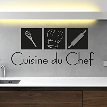 Ambiance Live Sticker Mural déco Cuisine du Chef   55 X 120 cm