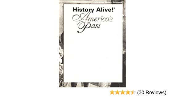 History Alive America S Past Interactive Student Notebook
