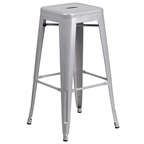 Flash Furniture CH-31320-30-SIL-GG Colorful Restaurant Barstools 30