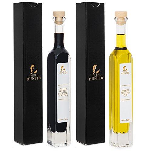 TruffleHunter White Truffle Oil & Balsamic Vinegar Gift (Italian White Truffle Oil)