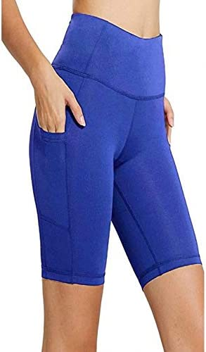 Yoga Shorts,Womens High Waist Tummy Control Leggings Running Sports Fitness Gym Workout Cotton Stretch Trousers Pants with Pocket
